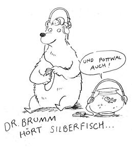 Dr. Brumm gratuliert Silberfisch